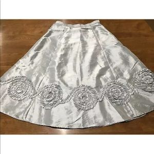 American Girl Holiday Silver Girls Party Skirt 10